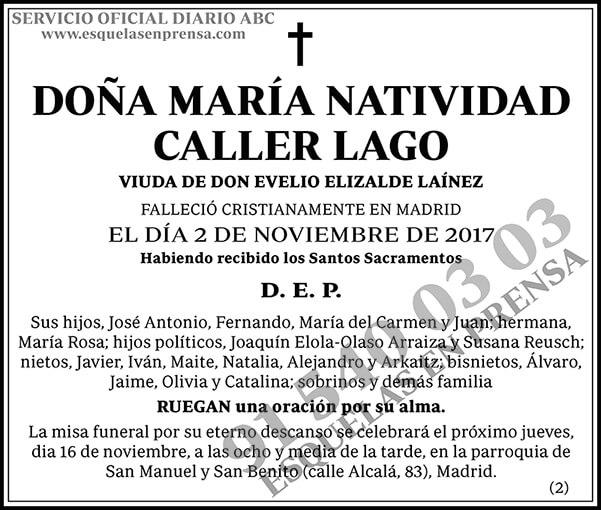 María Natividad Caller Lago